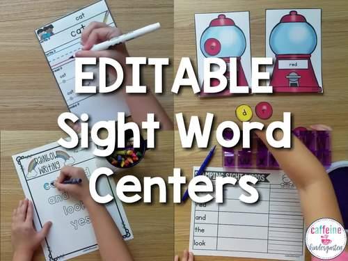 Sight Words Worksheets - Editable Word Work Practice