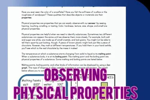 Physical Science Reading Comprehension Passages | Properties of Objects | Gr3-4