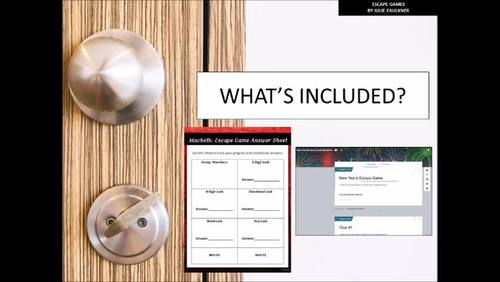 Escape Game Break Out Lock Box Activity for Ethos, Pathos, Logos