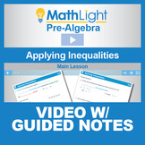 Applying Inequalities (Word Problems) Video Lesson with Gu