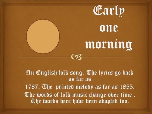 An early English folk tune with chime bar parts video mp3s