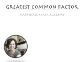 Greatest Common Factor VIDEO