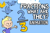 Basic Fractions Song for Kids ♫♪ Introduces Fractions On a