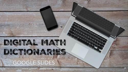 Middle School Math Digital Dictionary BUNDLE Common Core Aligned 100% Editable
