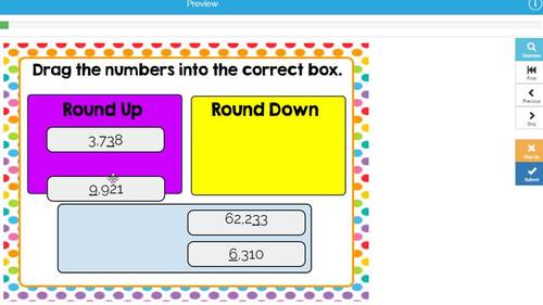 Rounding Whole Numbers Digital Boom Cards Level 1