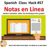 Spanish Class Check Grades on Line Reminders in Spanish Video