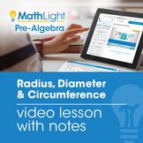 Radius, Diameter & Circumference   Circle Equations Video
