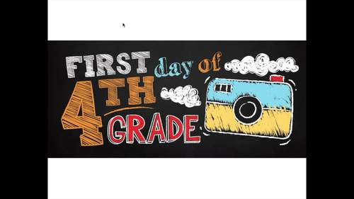 Editable First Day of School Sign & Last Day of School Sign • FOURTH GRADE
