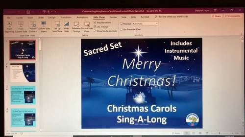 Christmas Sing Along Favorite Carols PowerPoint with Music - Sacred Set