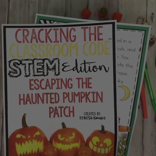 Halloween STEM Escape Room Cracking the Classroom Code™ Upper Elementary
