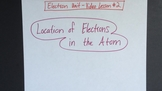 Location of Electrons in the Atom VIDEO LESSON