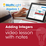 Adding Integers Review Video Lesson with Guided Notes