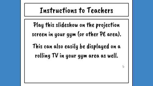 Physical Education Warm Up Exercises - Editable in Google Slides!