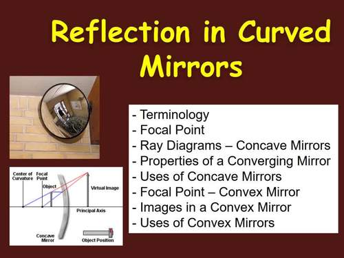 Reflection In Curved Mirrors Optics Powerpoint Lesson Student