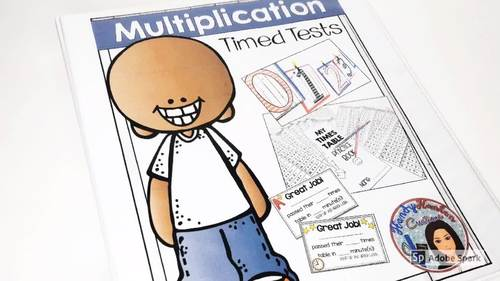 Back to School Multiplication Fact Tests and Practice Booklet