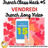 "5 French Class Transition Video ""Friday"" for CI TCI TPRS _"