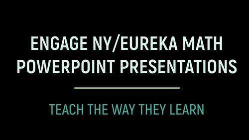 Engage NY/Eureka Math PowerPoint Presentations Kindergarten Module 2 Lesson 1