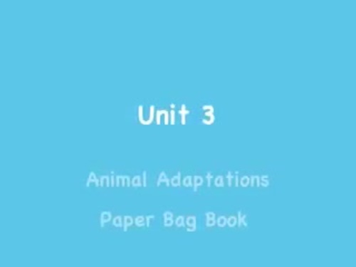 Benchmark Advance 3rd Grade Unit 3 Animal Adaptations Project (California)