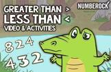 Greater Than Less Than Worksheets, Game, & Animated Video