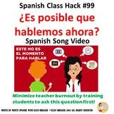 """Spanish  Social Skills """"¿Es posible que hablemos ahora? """""""