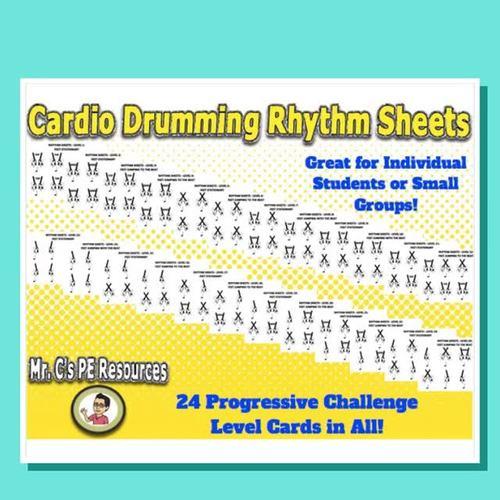 Cardio Drumming Rhythm Sheets (Complete Set)