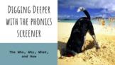 Bundle:  Phonics Screener Training Video and Complete Admi