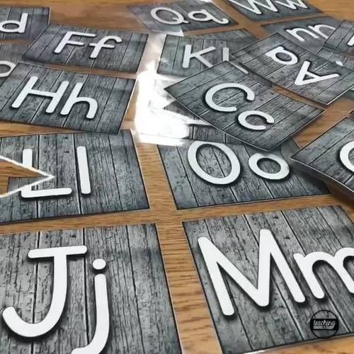 Wooden Farmhouse Alphabet Word Wall Letters