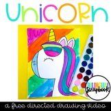 Unicorn Directed Drawing FREEBIE