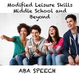Middle School to Adulthood Modified Leisure Skills Webinar