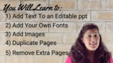 How to Customize an Editable PowerPoint File