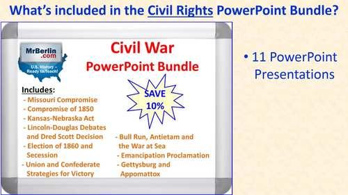 Civil Rights Movement PowerPoint Bundle (11 Titles)