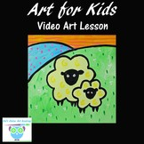 Video Art Lesson: Drawing and Painting Sheep With Acrylic Paints