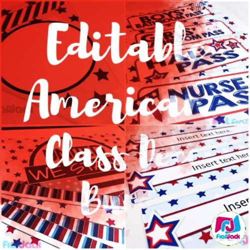 Editable Americana Classroom Decor Bundle