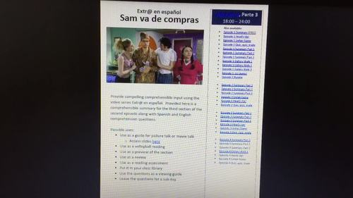 Extr@ en español Episode 2 Section 3 Summary with questions (Spanish Extra)