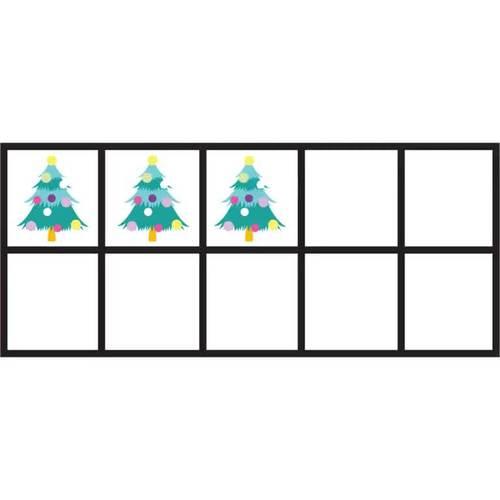 Christmas Tree 10 Frames Math Clip Arts - Set 1 [TeKa Kinderland]