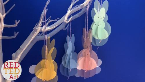 Easter Paper Activity -  Peeps Decorations - 5 Page Lesson Plan Printable