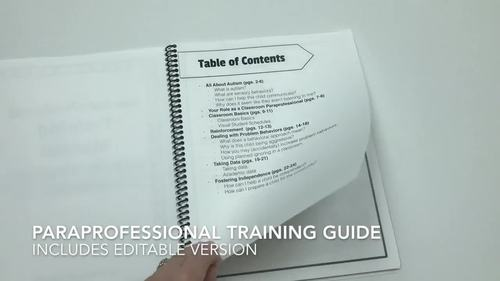 Paraprofessional Training Manual By The Autism Helper  Tpt