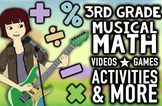NUMBEROCK 3rd Grade Musical Math Centers: Games, Videos, W