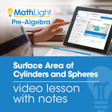 Surface Area of Cylinders and Spheres Video Lesson with St