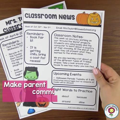 EDITABLE Newsletter Templates for Any Classroom