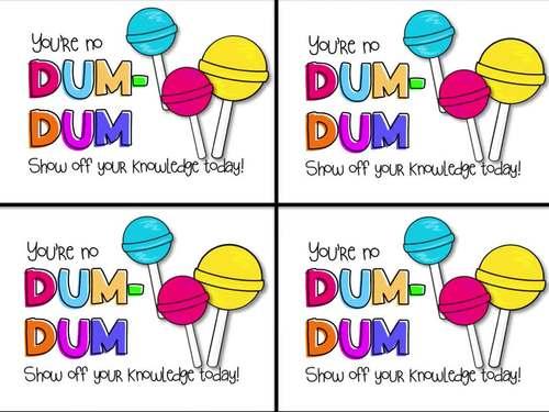 Sweets Testing Motivation Tags BUNDLE-Twix, DumDum, Oreo, Gummy Bear & more