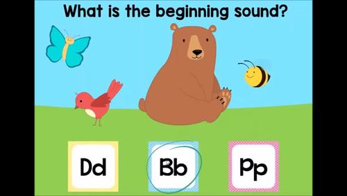 Beginning Sounds (Phonics) Alphabet Letter Sounds Digital Boom Cards
