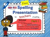 Spelling Strategies for Elementary Teachers  Part 1 - US/UK/AUS