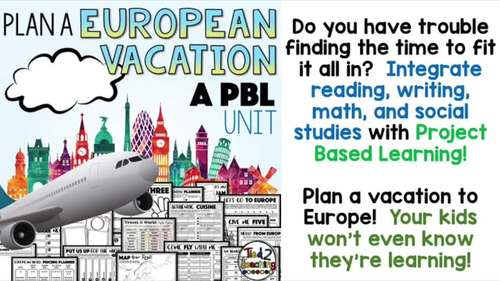 #springdollardeals Plan a Vacation PBL A Project Based Learning Activity