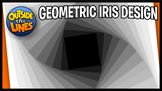 Geometric Iris Doodle Design