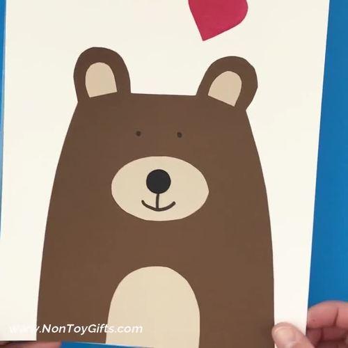 Valentine's Day  Bear Craft - Valentine Heart Bear Craft