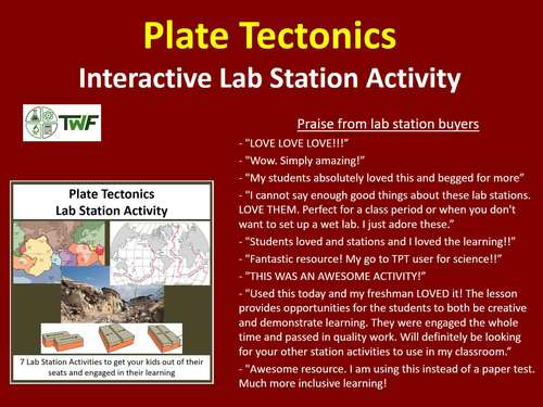 Plate Tectonics - Lab Station Activity