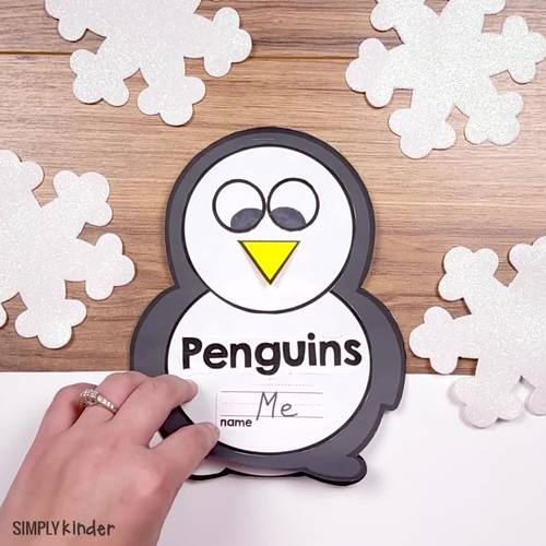 Penguins Kindergarten Activity Book