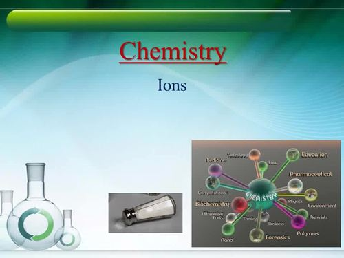 Ions Introduction Lesson - Chemistry PowerPoint Lesson, and Worksheet Package