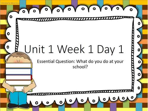 Wonders First Grade Unit 5 Presentation Bundle